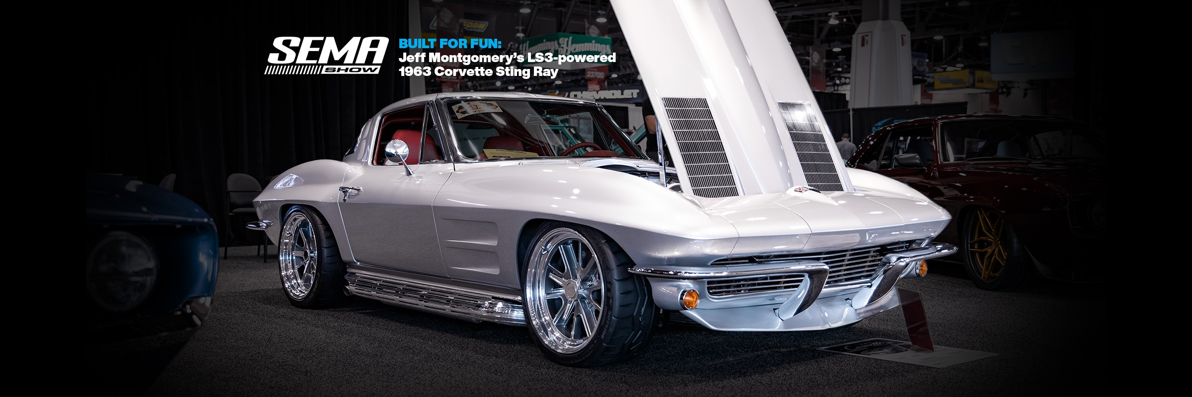 Parts, Events, Chevrolet Performance, Chevy, Chevrolet, Engines, Crate Engines, LS, LS Swap, LS3, Corvette, Corvette Sting Ray, 1963 Corvette Sting Ray, 1963 Corvette, SEMA, SEMA, SEMA Show, Chevy SEMA