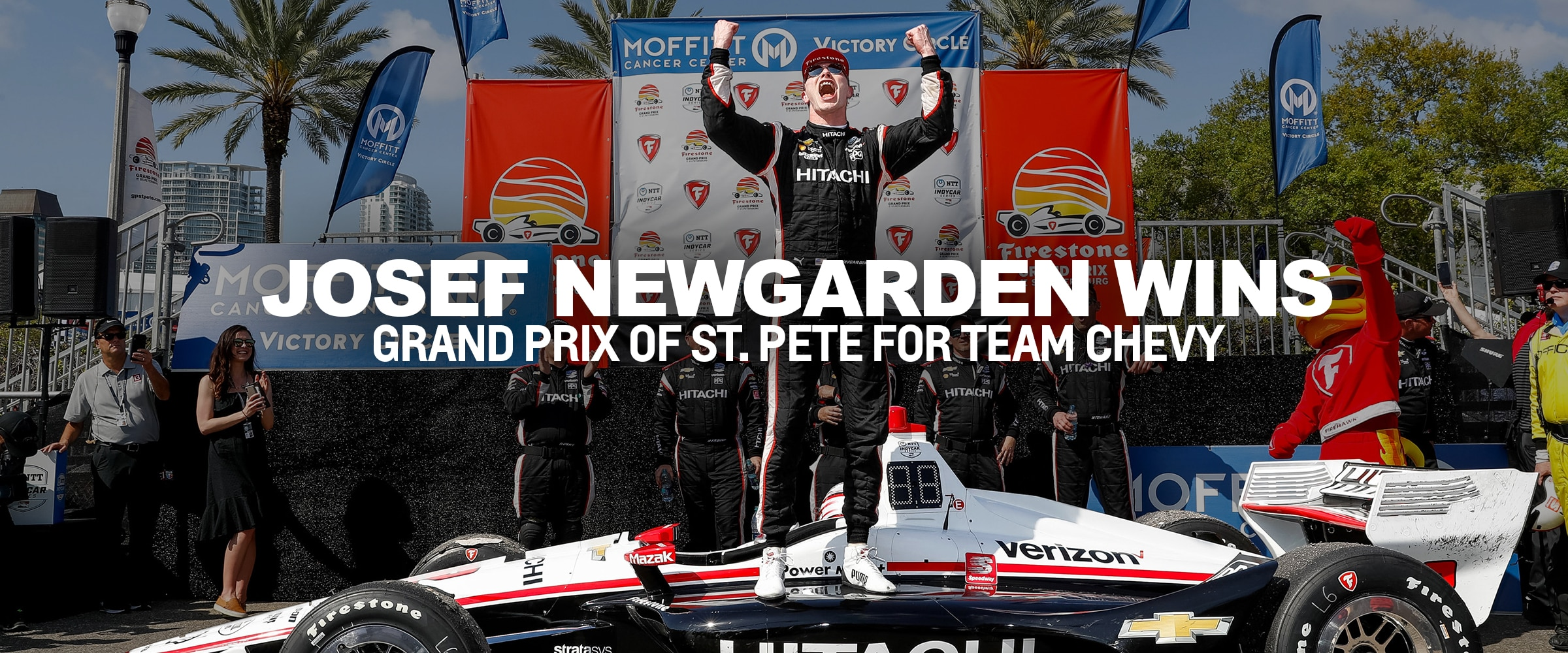 Racing, Motorsports, Chevy, Chevrolet, Chevrolet Performance, IndyCar, St. Petersburg, Grand Prix of St. Petersburg, Team Chevy, NTT IndyCar Series, Team Penske, Josef Newgarden