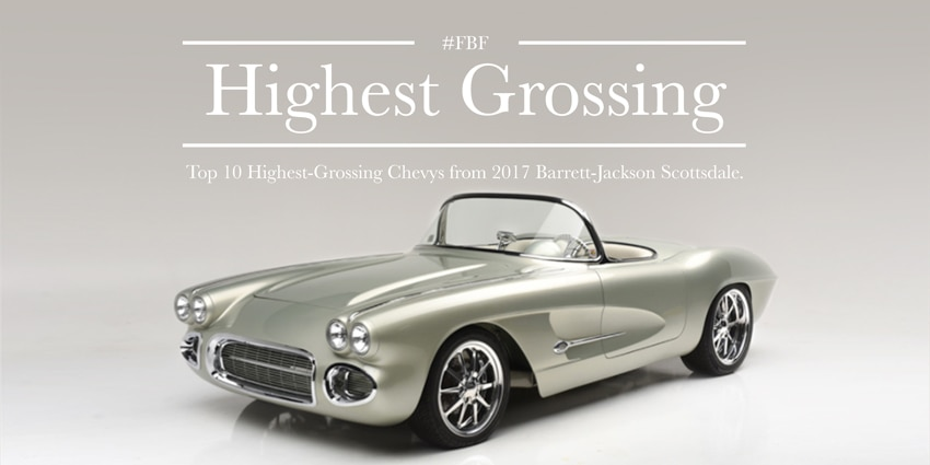 barrett-jackson, highest, grossing, chevrolet, scottsdale