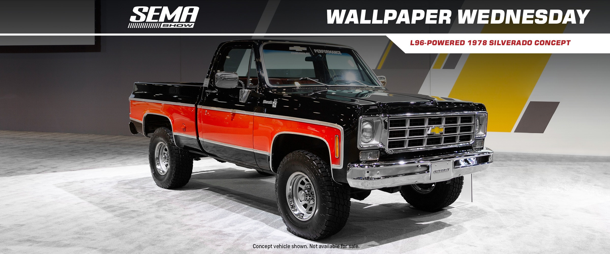 Vehicles, News, Parts, Events, Chevrolet Performance, Chevy, Chevrolet, Chevy Trucks, SEMA, SEMA Show, Chevy SEMA, Silverado, 1978 Silverado, Chevy Silverado, 1978 Chevy Silverado, 1978 Silverado Concept L96, Wallpaper, Wallpaper Wednesday, Downloads